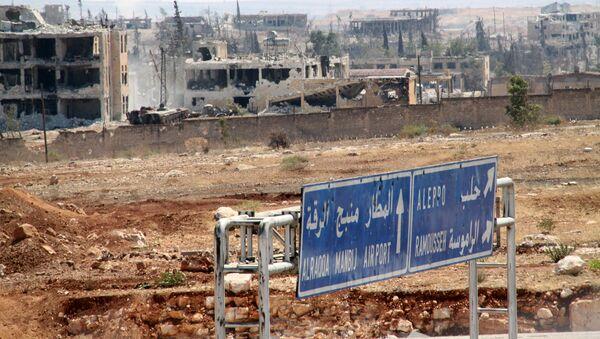Teritorija vojne akademije u Alepu koji je sirijska vojska oslobodila od terorista - Sputnik Srbija