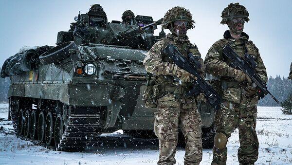 Британски војници на војним вежбама у Естонији - Sputnik Србија