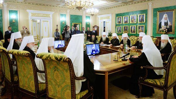 Zasedanje Svetog sinoda Ruske pravoslavne crkve - Sputnik Srbija