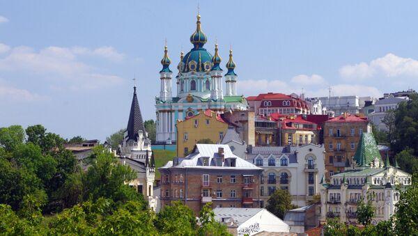 Pogled na Andrejevsku crkvu u Kijevu - Sputnik Srbija
