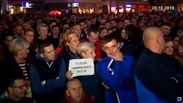 Протест у Бихаћу због миграната - Sputnik Србија