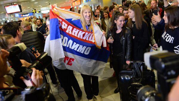 Златне одбојкашице на београдском аеродрому - Sputnik Србија