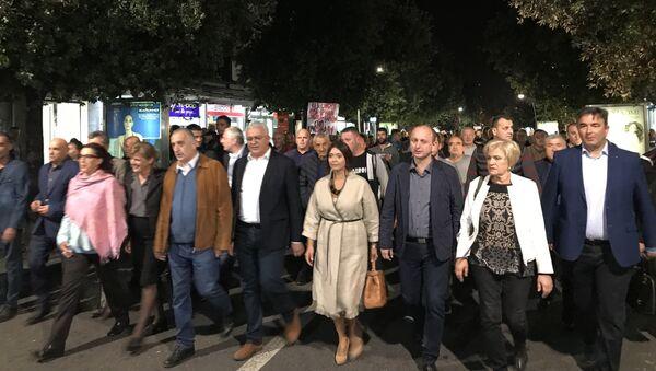 Протестна шетња Демократског фронта централним градским улицама - Sputnik Србија