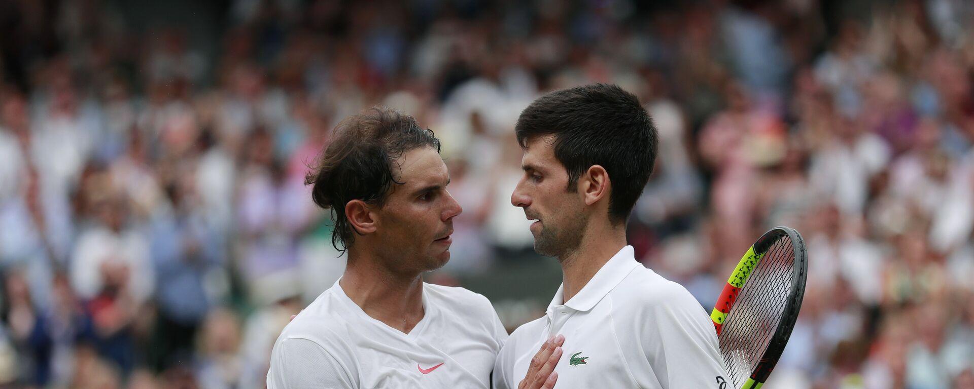 Rafaerl Nadal i Novak Đoković - Sputnik Srbija, 1920, 26.02.2021
