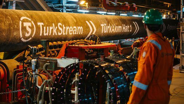 Цев гасовода Турски ток - Sputnik Србија