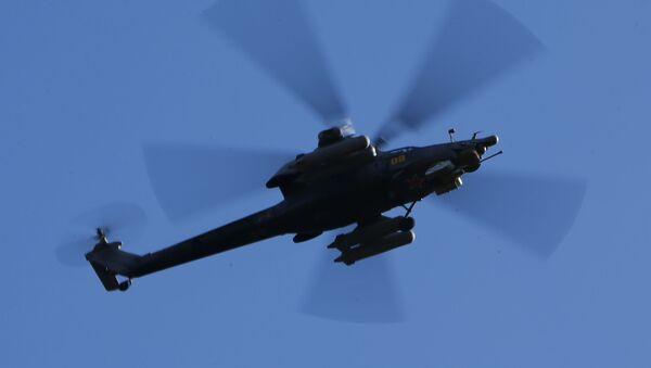 Хеликоптер Ка-52 Алигатор на војним вежбама у Костромској области - Sputnik Србија