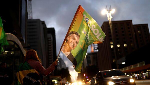 Присталице десничара Жаира Болсонара, који је победио на председничким изборима у Бразилу - Sputnik Србија
