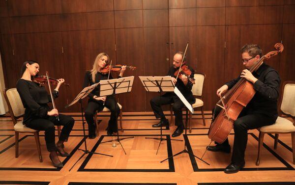 Gudački kvartet na svečanom prijemu - Sputnik Srbija