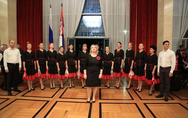 Horski orkestar nakon nastupa na proslavi Dana narodnog jedinstva - Sputnik Srbija