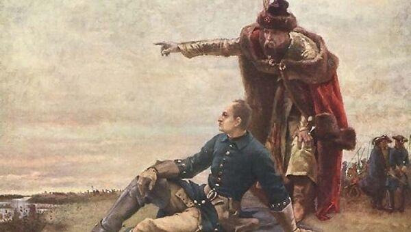 Карл XII и Мазепа на обали Дњепра након Полтавке битке - Sputnik Србија