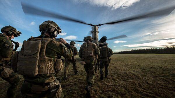 Норвешки војници на војним вежбама  НАТО-а Спој трозупца 2018 - Sputnik Србија