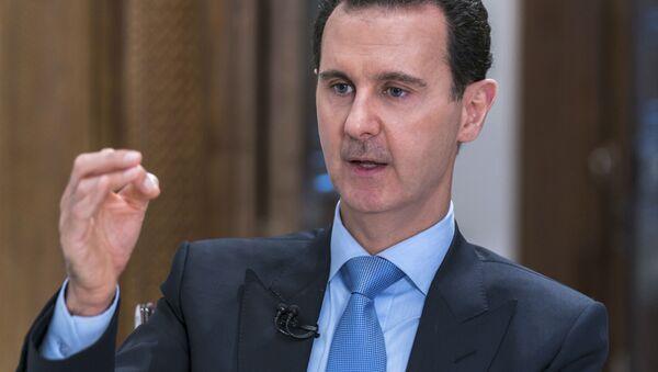 Prezident Sirii Bašar Asad vo vremя intervью - Sputnik Srbija