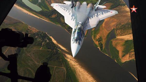 Ruski vojni avion Su-57 - Sputnik Srbija