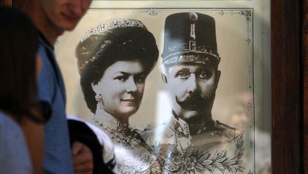 Франц Фердинанд са супругом Софијом - Sputnik Србија