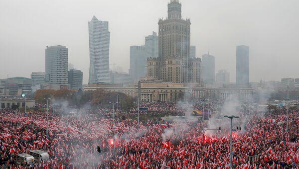 Proslava stote godišnjice nezavisnosti Poljske u Varšavi. - Sputnik Srbija