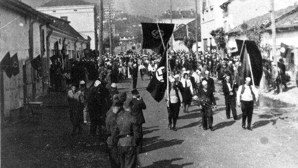 Proalbanska manifestacija u Novom Pazaru tokom rata - Sputnik Srbija