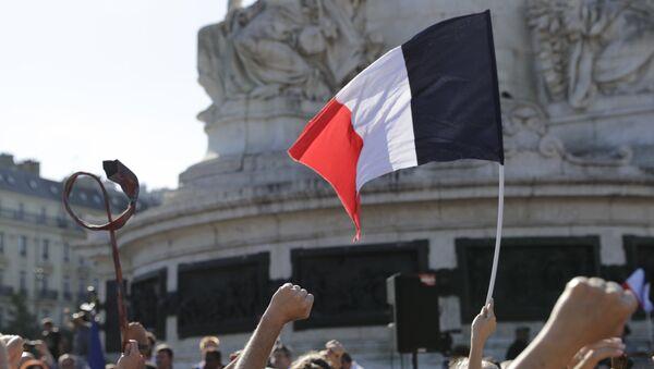 Застава Француске на протесту - Sputnik Србија