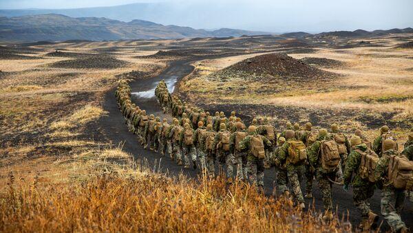 Амерички маринци на великој војној вежби НАТО-а Спој трозупца 2018 у Норвешкој - Sputnik Србија