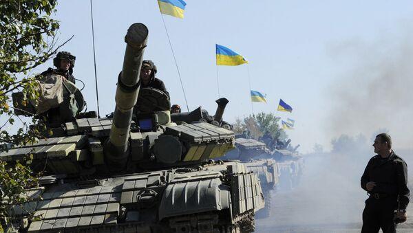 Тенкови украјинских оружаних снага у Луганској области - Sputnik Србија