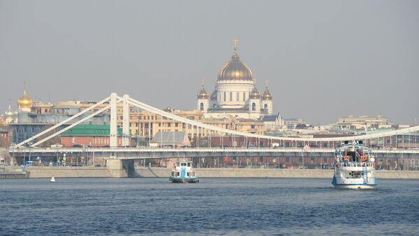 Храм Христа Спаситеља и река Москва. - Sputnik Србија