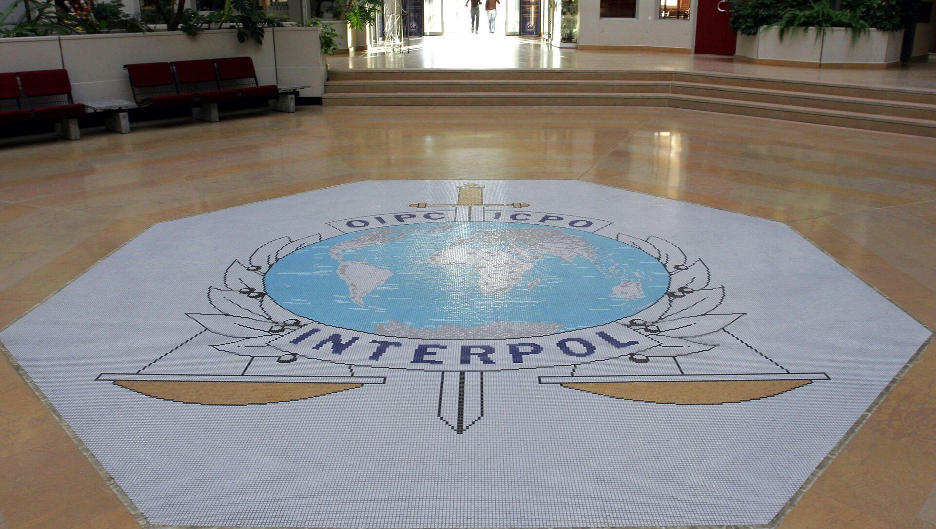 Лого међународне организације Интерпол у Лиону - Sputnik Србија, 1920, 03.03.2021