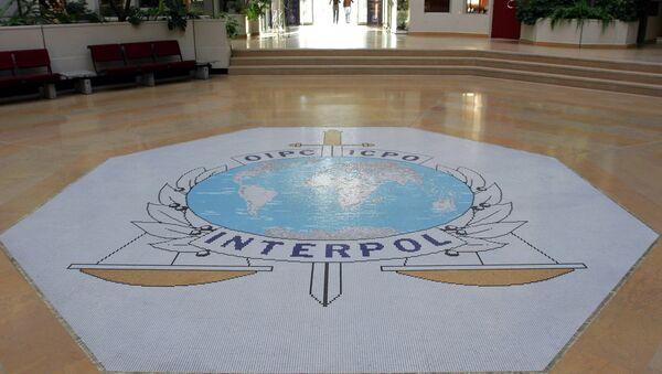 Лого међународне организације Интерпол у Лиону - Sputnik Србија