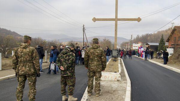 Мирни протести Срба у Рудару, КиМ - Sputnik Србија