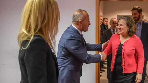 Рамуш Харадинај на пријему поводом Дана захвалности - Sputnik Србија