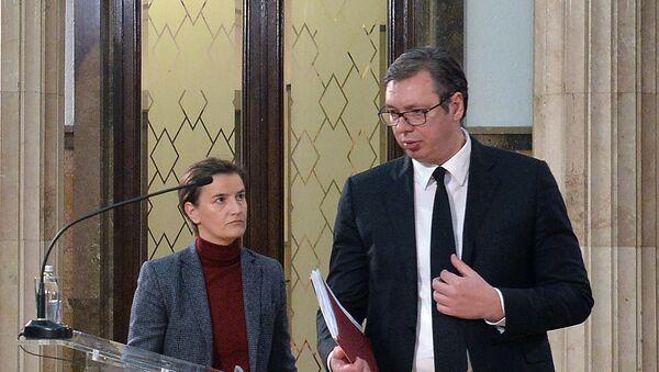 Ана Брнабић и Александар Вучић - Sputnik Србија