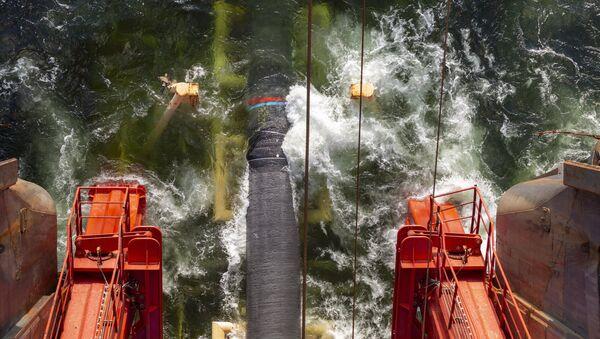 Полагање цеви гасовода Северни ток 2 у Финском заливу - Sputnik Србија