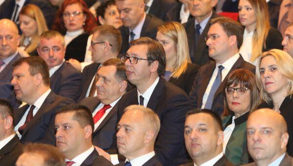 Александар вучић и Милорад Додик - Sputnik Србија