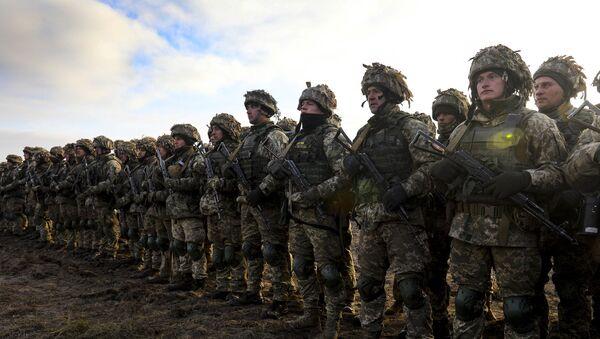 Учесници тактичких војних вежби украјинске војске - Sputnik Србија