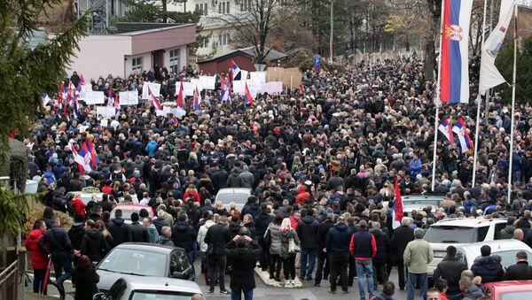Протест Срба у Косовској Митровици - Sputnik Србија