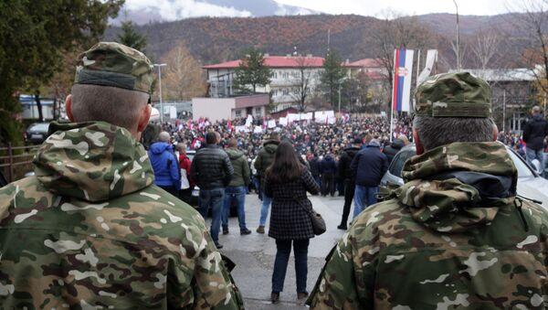 Протест Срба на Косову и Метохији - Sputnik Србија