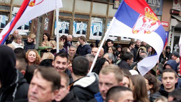 Protesti Srba u Kosovskoj Mitrovici - Sputnik Srbija