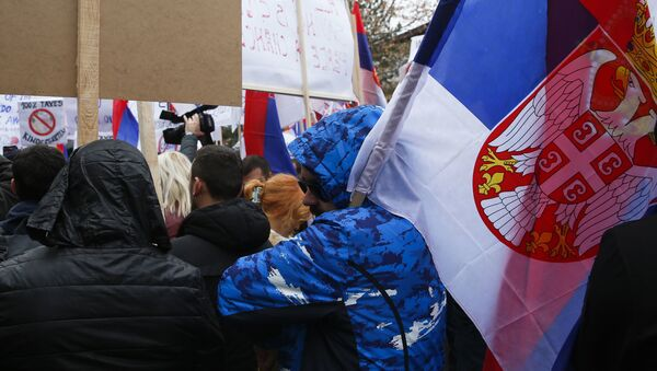 Protest Srba na severu Kosova - Sputnik Srbija