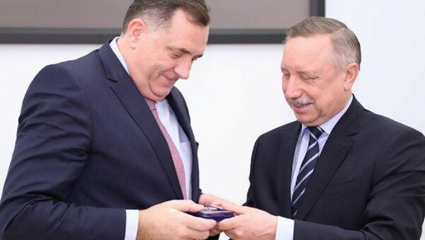 Милорад Додик и губернатор Санкт Петербурга Александар Бегалов - Sputnik Србија