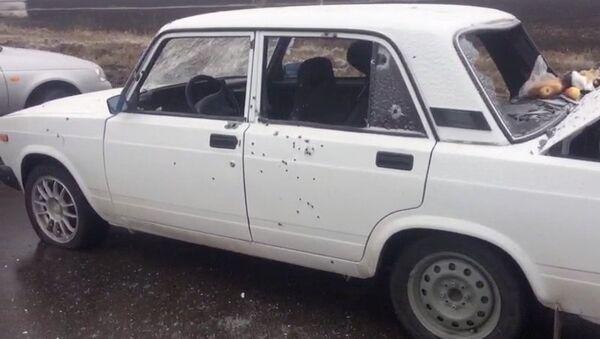 Izrešetani automobil ekstremista koje su likvidirali pripadnici FSB Rusije - Sputnik Srbija