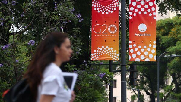 El logo del G20 en Argentina - Sputnik Србија