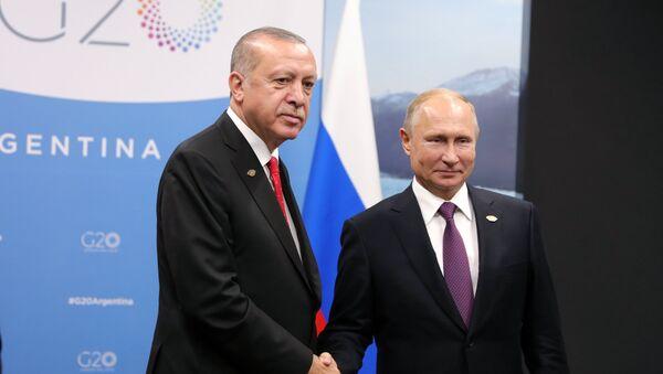 Председник Русије Владимир Путин и председник Турске Реџеп Тајип Ердоган - Sputnik Србија
