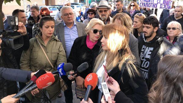 Марина Медојевић испред суда у Подгорици - Sputnik Србија