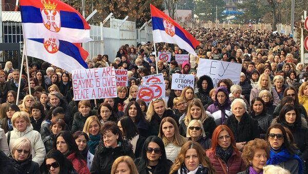 Протест жена на Косову - Sputnik Србија
