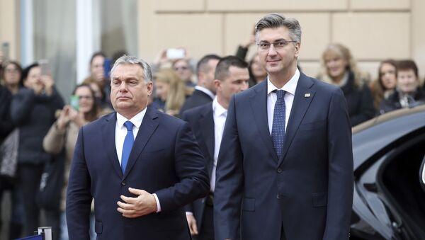 Viktor Orban i Andrej Plenković - Sputnik Srbija