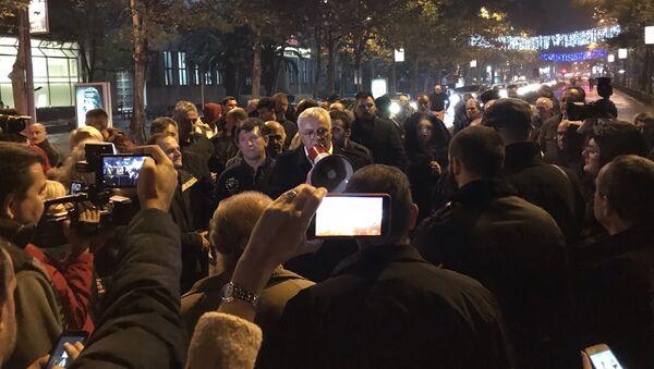 Протест ДФ-а у Подгорици против притварања Небојше Медојевића - Sputnik Србија