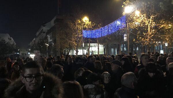 Protest zbog hapšenja Nebojše Medojevića u Podgorici - Sputnik Srbija