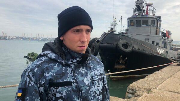 Један од украјинских морнара који је учествовао у инциденту у Керчком мореузу - Sputnik Србија