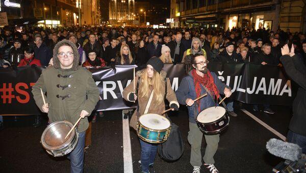 Protestna šetnja opozicije u Beogradu - Sputnik Srbija