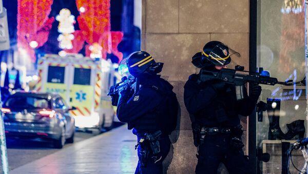Полиција на месту терористичког напада у Стразбуру - Sputnik Србија