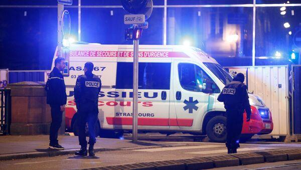 Policija na mestu terorističkog napada u Strazburu - Sputnik Srbija