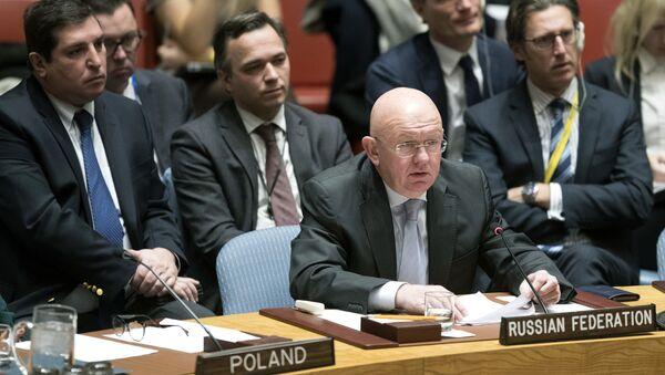 Амбасадор Русије у УН Василиј Небензја на седници Савета безбедности - Sputnik Србија